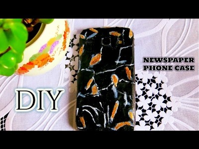 How to Make Phone Case Out of Newspaper  | FROM TRASH TO SOMETHING USEFUL | DIY