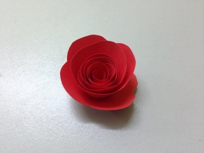 How to make small rose paper flower | Easy origami flowers for beginners making | DIY-Paper Crafts