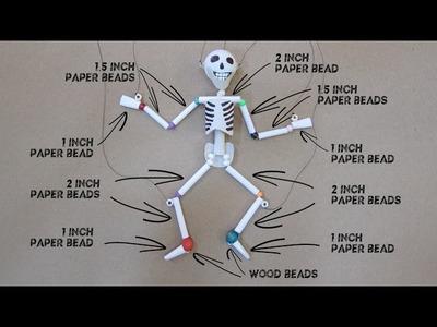 Paper & Plastic Bead Skeleton Marionette Part 1