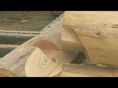 Blind wall dovetail - How to Build a Log House
