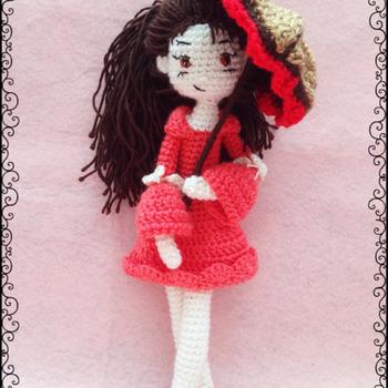 Girl With Umbrella Amigurumi Crochet Pattern