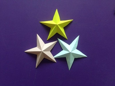 How to make a 3D paper star | Easy origami stars for beginners making | DIY-Paper Crafts