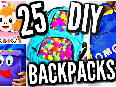 25 DIY Backpacks For Back To School 2016-2017! DIY School Supplies!