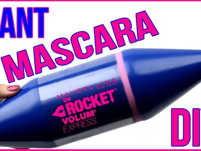 DIY Crafts: How To Make A Giant Mascara Tube -DIYs Storage Idea or Gift Box-Cool DIY Project