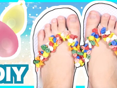 DIY Flip Flops decoration with Water Balloons