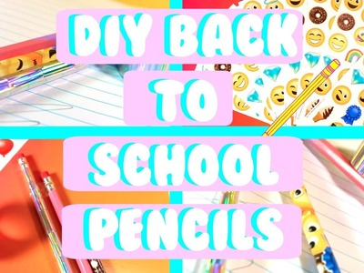 DIY Holographic pencils for back to school!!!!.and more pencils. how to style your unique pencils