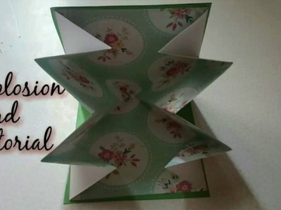 DIY How To Make Explosion Card | Birthday popup Explosion Card | Craftlas