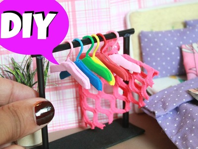 DIY Miniature Clothes Hangers | Doll DIY