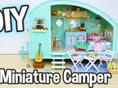 DIY Miniature Dollhouse Kit Cute Camper Room with Working Lights!. Relaxing Craft