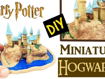 DIY MINIATURE HARRY POTTER CASTLE - Mini Hogwarts craft polymer clay & resin tutorial How to