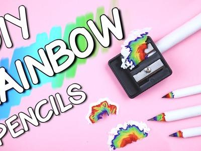 DIY RAINBOW PENCILS! DIY School Supplies 2016