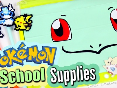 DIY School Supplies - Magnetic Notebook & Pokemon Back-To-School How To