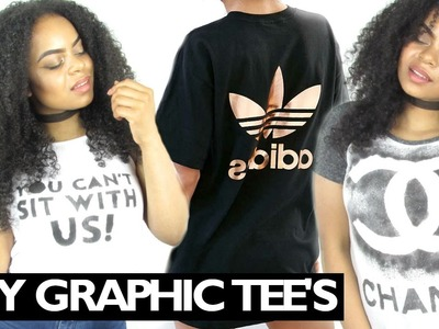 DIY Tumblr Inspired Graphic Tees WITHOUT Transfer Paper!