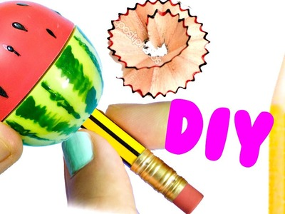 DIY WATERMELON SHARPENER | Back to School Supplies 2016