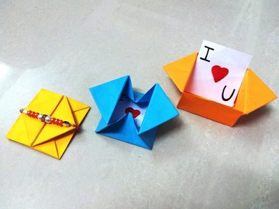 How to make an origami paper envelope - 2 | Origami. Paper Folding Craft, Videos & Tutorials.