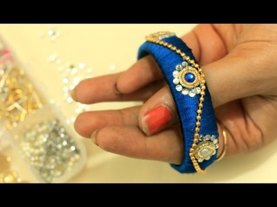 How To Make Beautiful Silk Kada Very Easily At Home:DIY Traditional Thread Bangle(Simple)