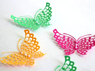 How To Make Butterfly With Paper craft for kids