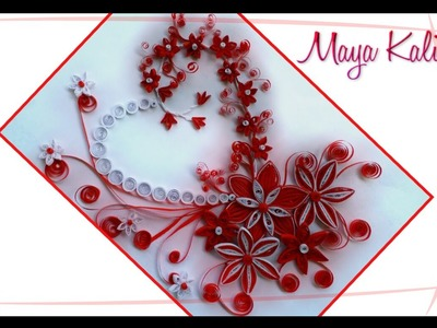 How to make DIY  Paper Quilling DESIGNS - Quilling Art. Heart designs. Ideas Tutorial !