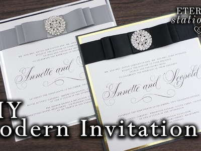 How to make elegant modern wedding invitations | DIY invitation