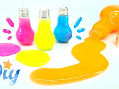 How to make Light Bulb Slime DIY - Glow Slime