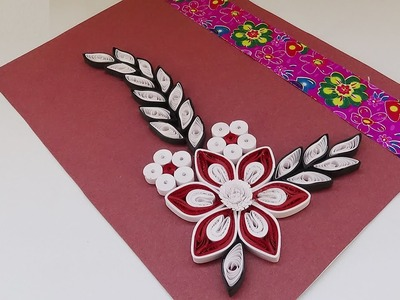 Quilling | How To Create A Simple Quilled Birthday Card  - DIY Crafts Tutorial -  Paper Quilling Art