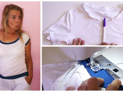 T-Shirt DIY - How to transform an old T-Shirt