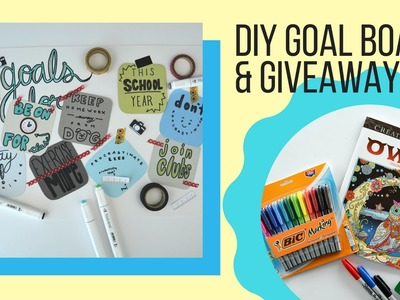 Watch Me Craft | DIY Goal Board & BACK-TO-SCHOOL GIVEAWAY!