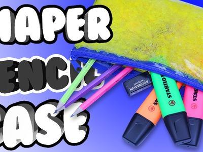 DIY DIAPER PENCIL CASE!? Turn your boring PENCIL CASE into a squishy, colourful one!