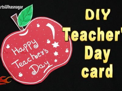 DIY Easy Teachers Day Apple Shaped Greeting Card  |  JK Arts  1056    #TeachersDay