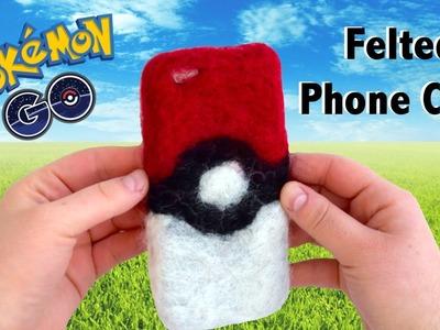 DIY Felted Pokeball Phone Case. Pokemon Go Back to School DIY. DIY Phone Case