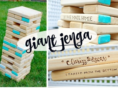DIY GIANT JENGA +how to carve logo & decorate!