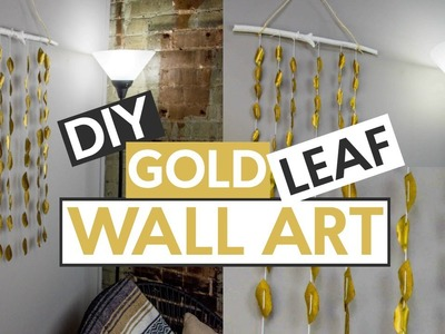 DIY GOLD LEAF WAL ART
