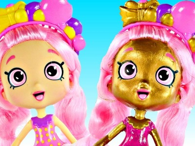DIY Gold Limited Edition Bubbleisha Shoppies Shopkins Toy Doll | How To Make Shoppies Shopkin