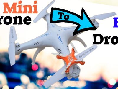 DIY How To Make Nano Drone Bigger ! Cheap RC Drone Hack
