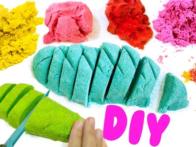 DIY KINETIC SAND | EASY DIY Sensory Toys for Kids