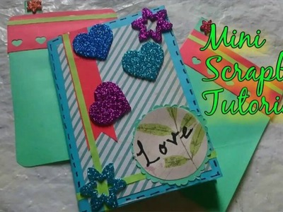 DIY Mini Scrapbook Making Easy Idea | How To | Craftlas