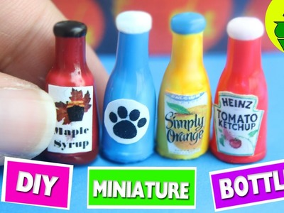 DIY | Miniature Bottles - Easy Doll Crafts - simplekidscrafts
