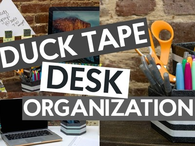 DIY ORGANIZATION DUCK TAPE CRAFTS | ORGANIZING TIPS
