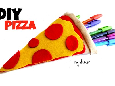 DIY PIZZA PENCIL CASE - Back to school supplies
