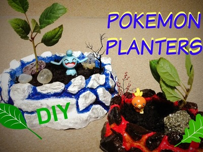 DIY Pokemon planters, fire and ice