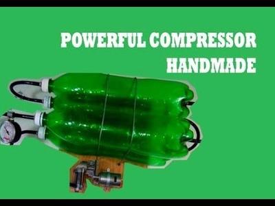 [ DIY ] Powerful Mini Compressor from Bottle