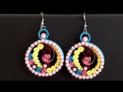 DIY Quilling : How to Make Paper Quilling Earrings | Handmade Paper Jewelery