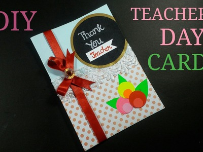 DIY# TEACHER'S DAY GREETING CARD. HOW TO MAKE. CWM# 8