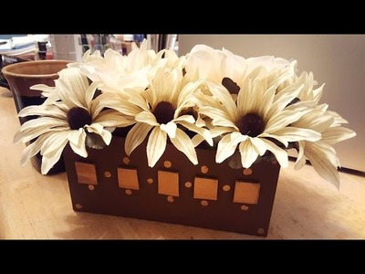 DIY Upcycled Flower Box