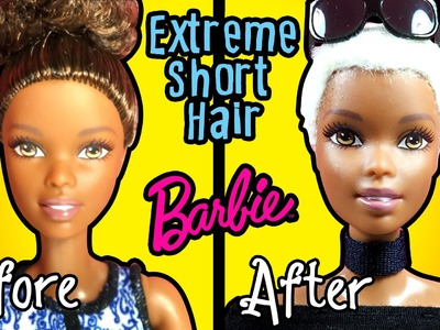 How to Cut Extreme Short Haircut for Barbie Doll - DIY Doll Hair - Making Kids Toys