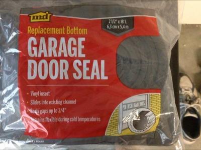 How to DIY replace bottom door seal on garage door (Installs Easy)