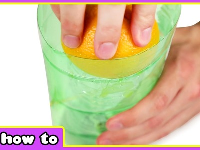 How to make an Orange Juice Squeezer from Plastic Bottle - Amazing DIY Projects - HooplaKidz How To