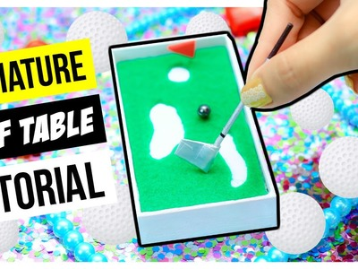 Miniature Golf Table Tutorial ~ Mini Golf Table ~ EASY DIY