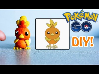 Pokemon GO's TORCHIC DIY from modelling clay, do-it-yourself craft tutorial