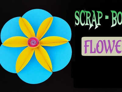 "Tutorial to make ""Flower for Scrap Book"" - DIY 